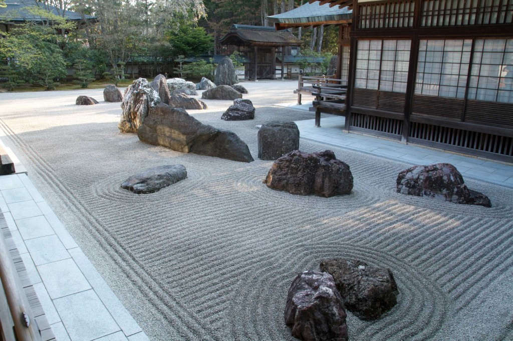 Giardino Zen all'interno di un Tempio