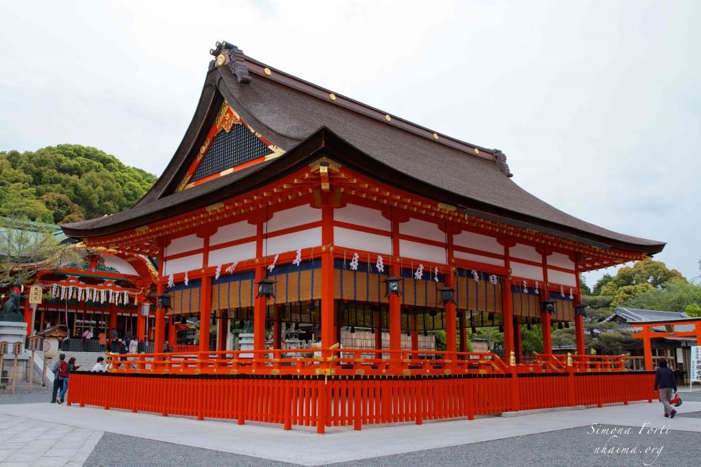 Tempio shintoista al Fushimi Inari vicino Kyoto